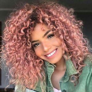 pink spiral curls