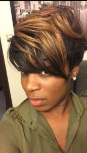 bangs short asymmetry