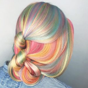 rainbow blonde unique