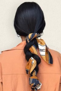 long printed scarf braid