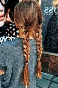 long braids down pigtail