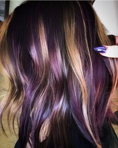 unique blonde purple highlights