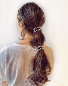 long pearl clips