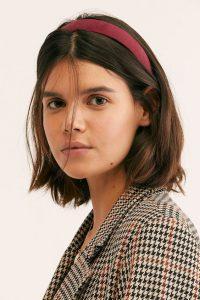 chin length headband red