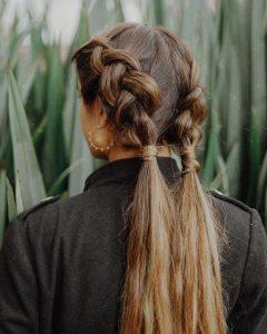 long bubble braids