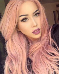 unique pastel pink
