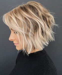 wavy textured hair