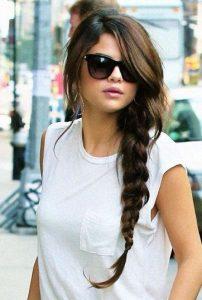 selena long braid