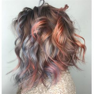 unique metallic hair