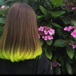 unique neon yellow hair