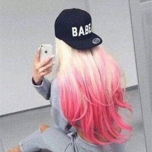 unique hot pink ombre