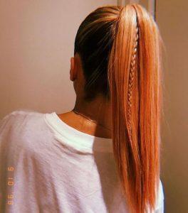 long straight ponytail mini braid