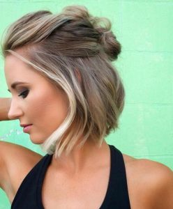 twisted back chin length