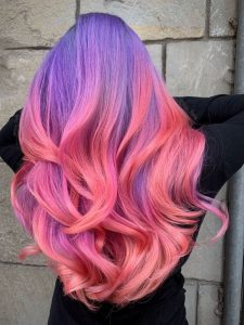 unique pink purple ombre