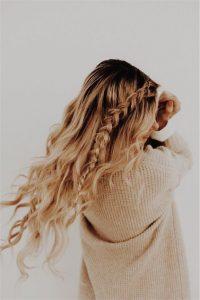 long side braid curls