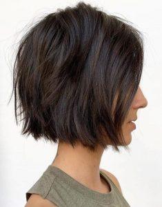 textured straight cut