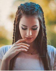 pigtail braid long hair