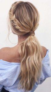 braid low pony long