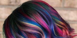 unique bright colors mixed