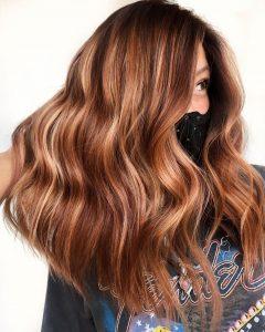 spicy cinnamon hair