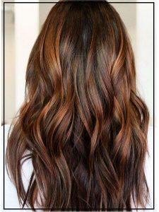 cinnamon balayage hair