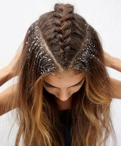 triangle braid glitter