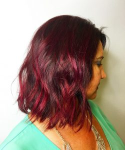 ruby red brown hair