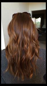 wavy cinnamon hair brown