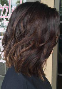 short wave mocha hair