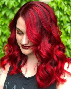side part ruby red