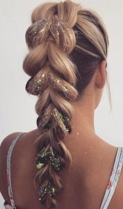 bubble braid glitter
