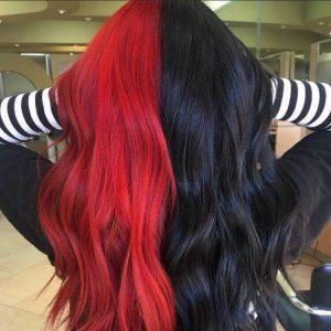 black red half