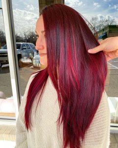 sleek straight ruby
