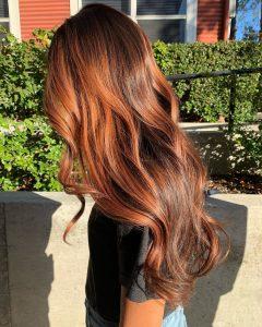 cinnamon spiced hair