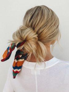 bun scarf extension