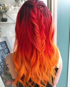 ruby to orange ombre