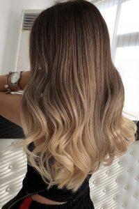Ombre dark Brown to Blonde Color