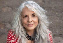 gray long mature hair