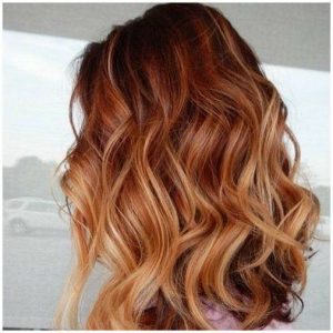 contrasted strawberry brown
