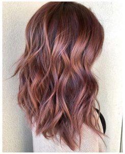 burgundy strawberry brown