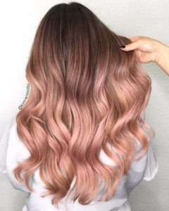 pink toned strawberry brown