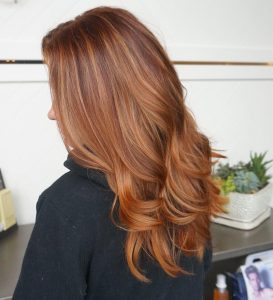 strawberry brown trendy hair