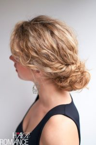 curly twisted messy bun